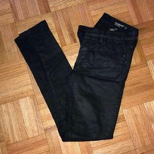 Black skinny jeans with slight shimmer